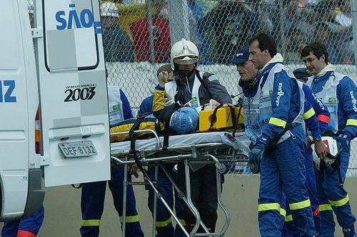 GP de Brasil 2003: lluvia, accidente brutal de Alonso y lío