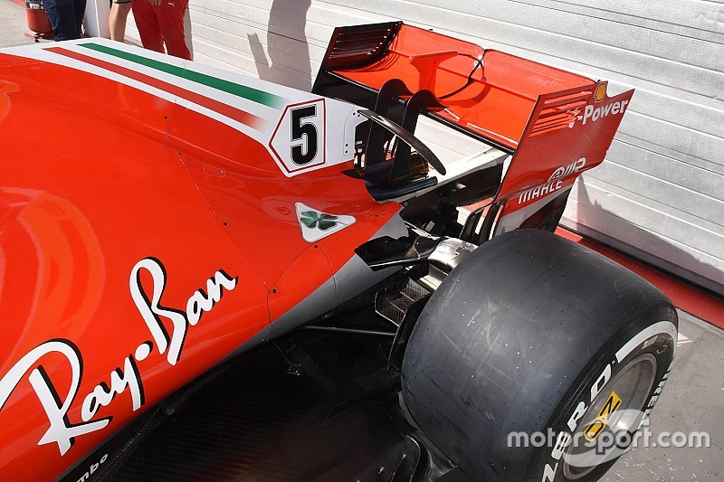 Is a blown wing trick helping Ferrari's speed advantage?
