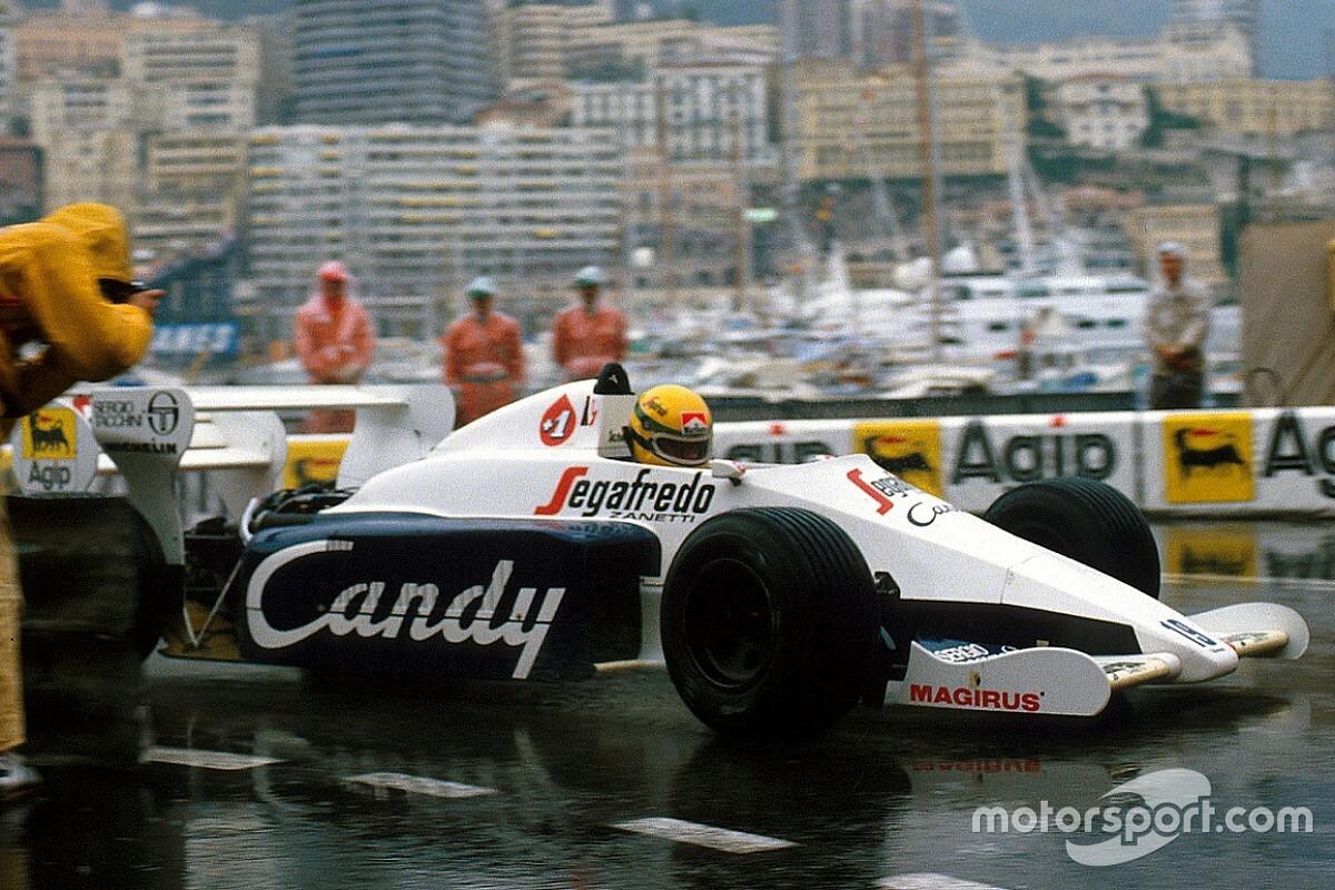 El primer podio de Ayrton Senna en la F1