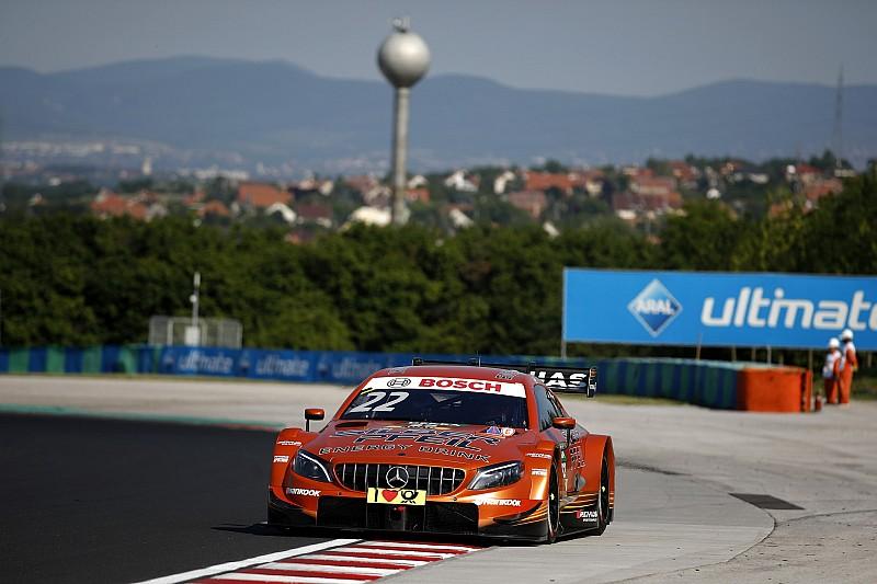 Hungaroring DTM yarış pit yolundaki kaosun ardından durduruldu