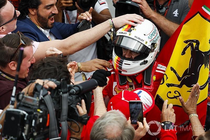 """Vettel, une 50e """"parfaite"""" qui met fin à la disette de Ferrari"""