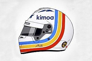 Alonso apresenta capacete para 24 Horas de Daytona