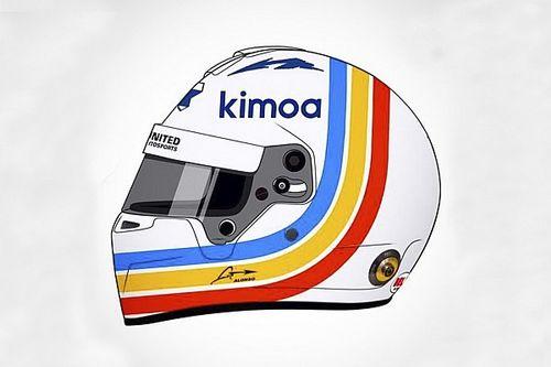 Alonso, Daytona 24 Saat yarışı kaskını tanıttı