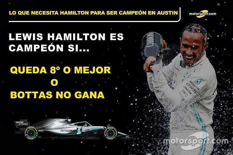 Las cuentas de Hamilton para ser campeón en Austin