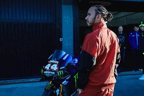 Yamaha had to restrain eager Hamilton during ride swap