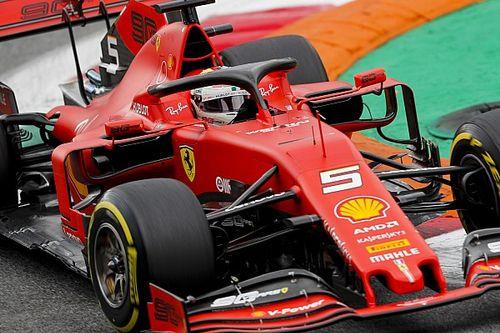 Vettel tuż przed Verstappenem