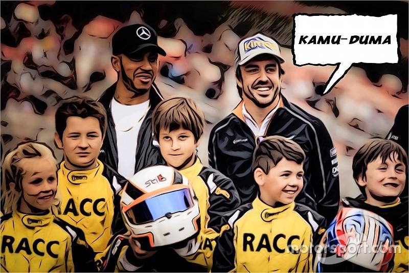 Kamu-duma: Alonso kóstolgatja Hamiltont