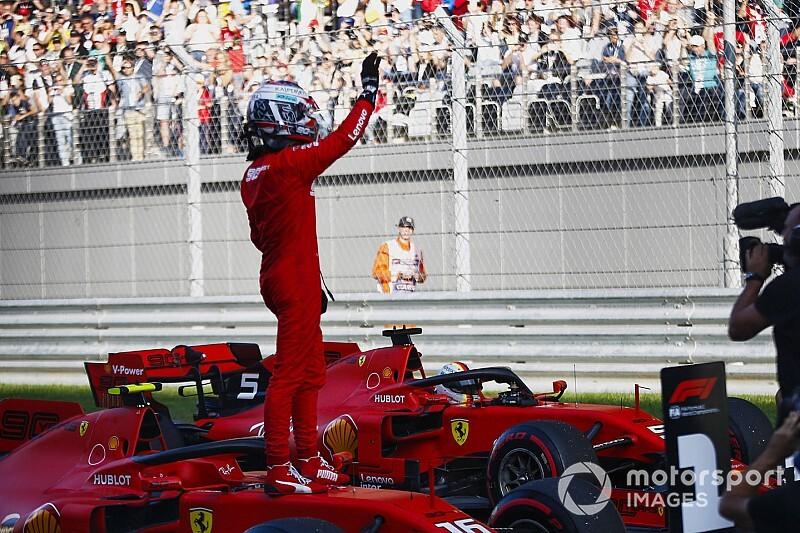 """Leclerc: """"Ferrari superba. E per domani il passo gara è positivo"""""""