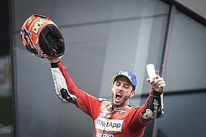 Dovizioso elképesztő örömködése a pálya szélén a Red Bull Ringen