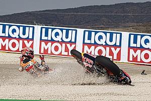 Au GP d'Aragón, le plus faible nombre de chutes en 10 ans