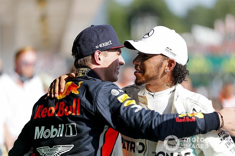 Hamilton wint in Hongarije na zinderend duel met Verstappen