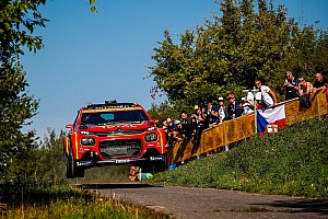WRC spectator escapes injury after fall, Ostberg near-miss