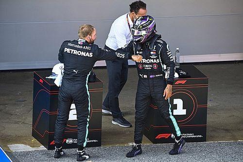 西班牙大奖赛排位赛:汉密尔顿力克博塔斯摘下杆位,莱科宁首次进入Q2