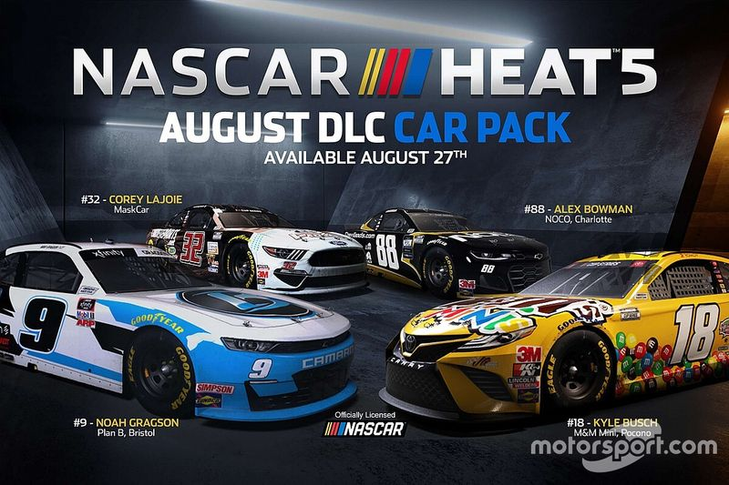 Il secondo Content Pack di Nascar Heat 5 sarà disponibile dal 27 agosto