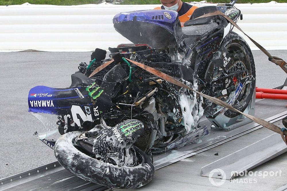 Le moteur accidenté de la Yamaha de Viñales a été sauvé