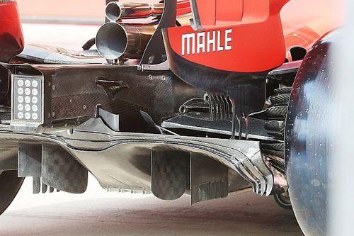 Ferrari: nel diffusore c'è anche il doppio fondo della SF71H