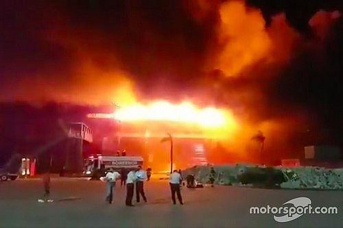 В Аргентине сгорела гоночная трасса: видео