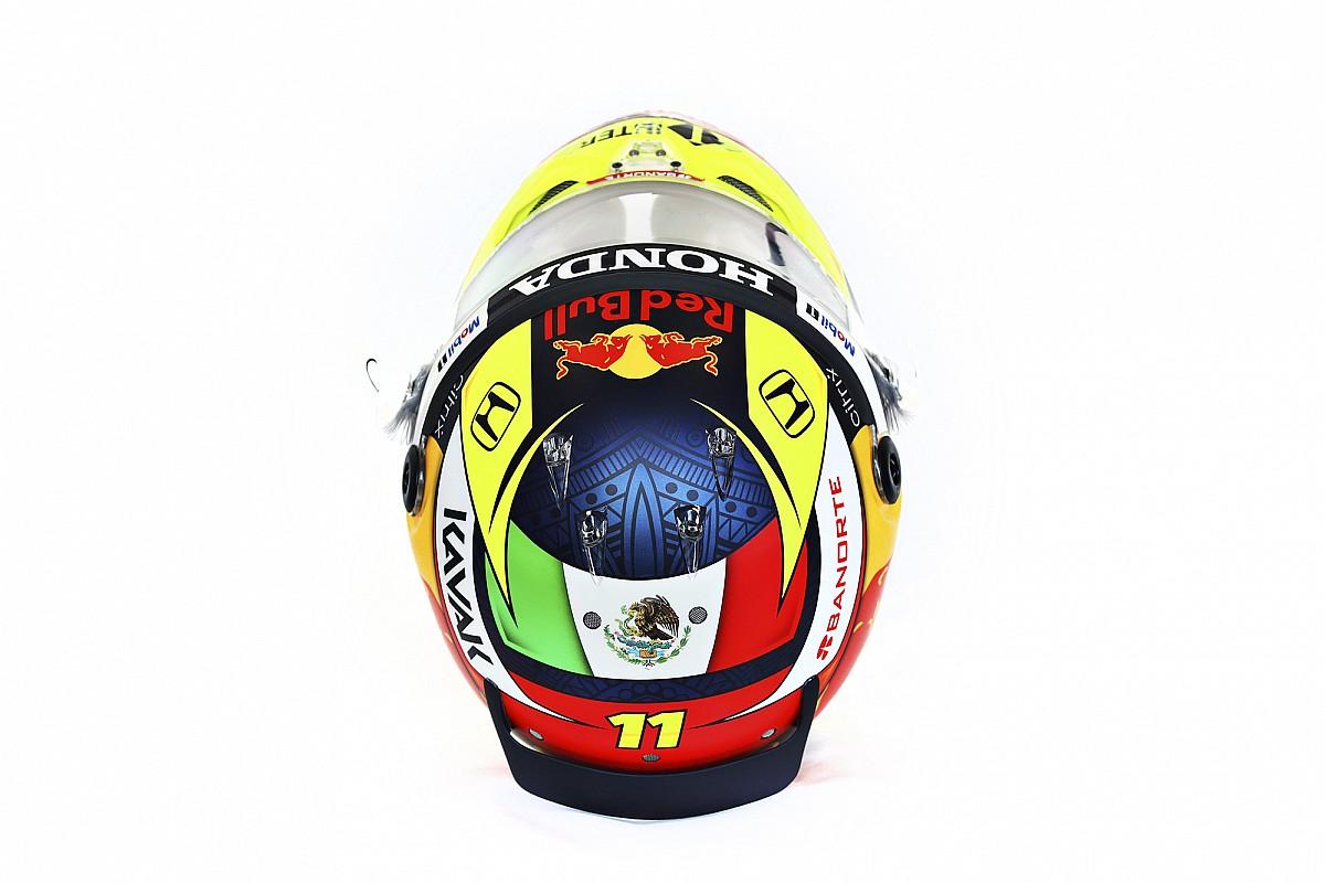 F1: Pérez apresenta capacete que usará com Red Bull em 2021; veja fotos