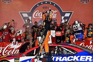 Coke 600: Martin Truex Jr. wins after wild four-wide pass