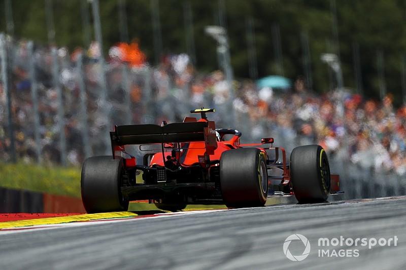 El viento provoca estragos en una FP2 de Austria que lideró Leclerc