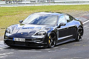 Porsche Taycan spied turning silent laps at the Nürburgring