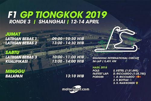 Jadwal lengkap F1 GP Tiongkok 2019