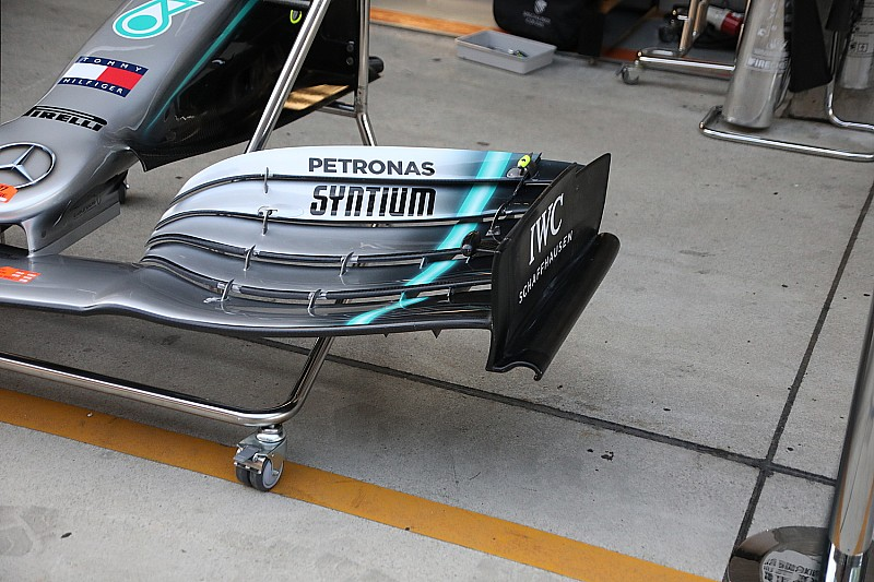 Mercedes Introduces New Front Wing Endplate For Chinese GP