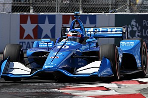 "Rosenqvist rues ""silly"" error but tops rookies at Long Beach"
