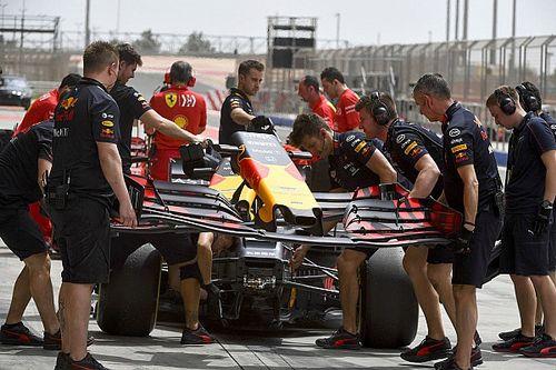 Red Bull испытала на тестах переднее антикрыло новой конструкции
