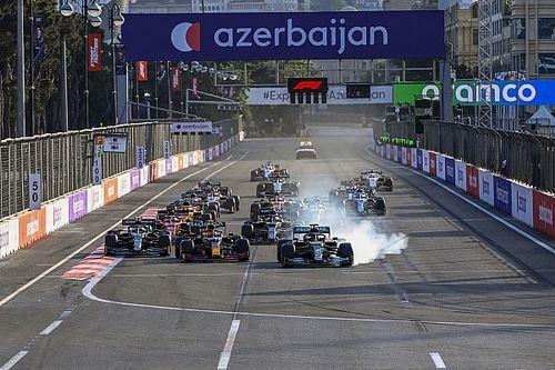 GP Azerbejdżanu: Okrążenie po okrążeniu - animacja
