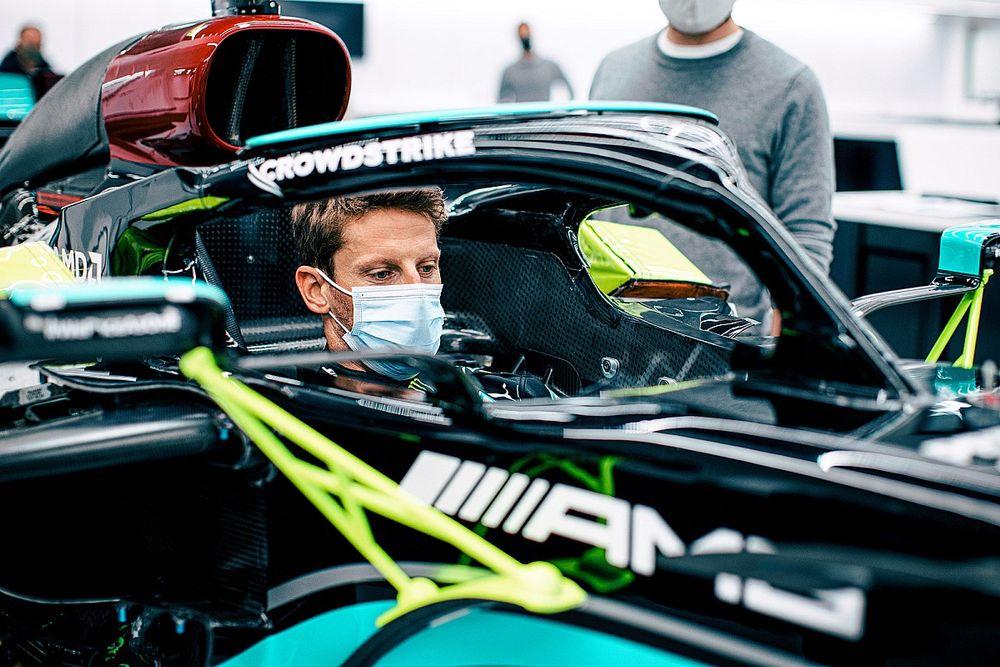 Mercedes blaast F1-test van Grosjean af