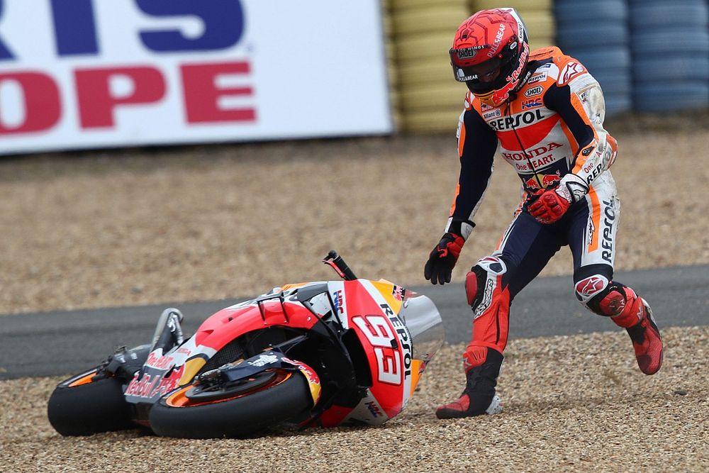 """MotoGP - Márquez explica queda em Mugello e lamenta morte de Dupasquier: """"Golpe duro"""""""