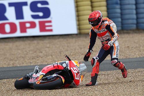 Recordaantal crashes tijdens Grand Prix van Frankrijk
