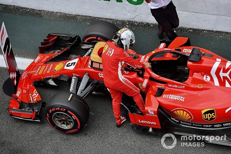 Videón a dühös Vettel a mérlegelésnél a Brazil Nagydíjon