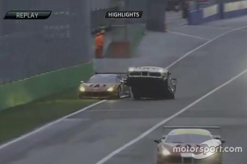 Ferrari North America: Palermo rischia il... decollo dopo un contatto con Katechis!