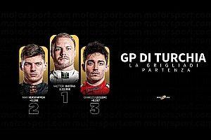 GP Turchia: Lewis 11esimo prova la rimonta. Leclerc sogna il colpo