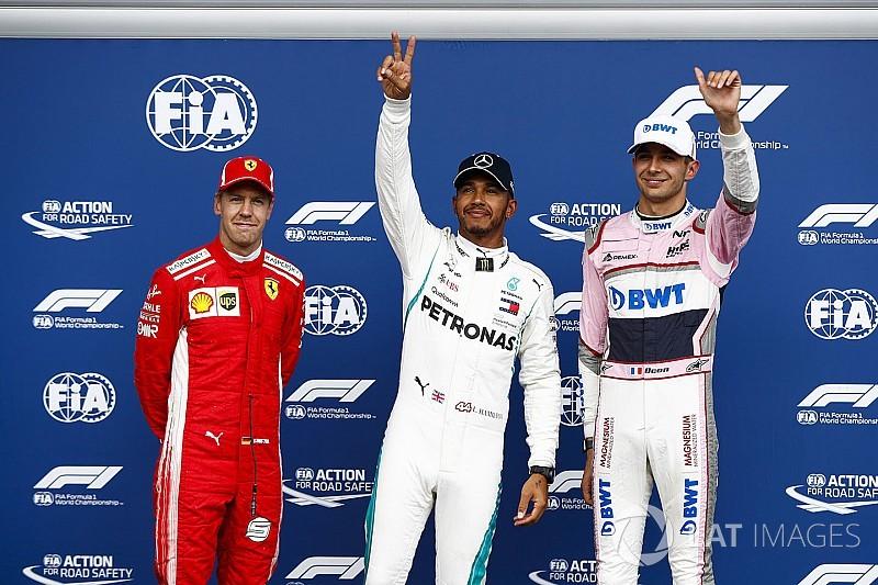 Hamilton brilha na chuva e conquista pole em Spa