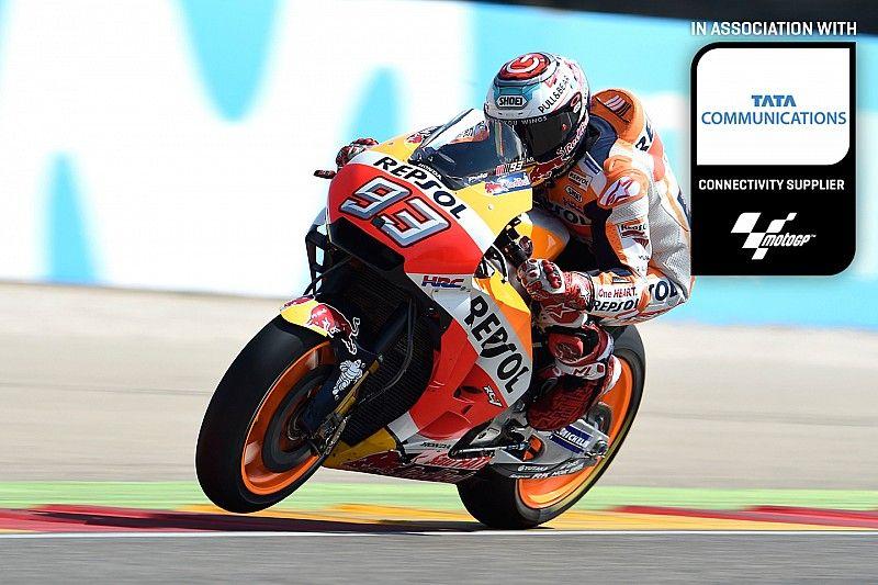 Marquez leaves his mark on Motorland Aragon