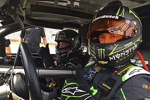 Kurt Busch and Brittany Force test each other at the Charlotte dragstrip