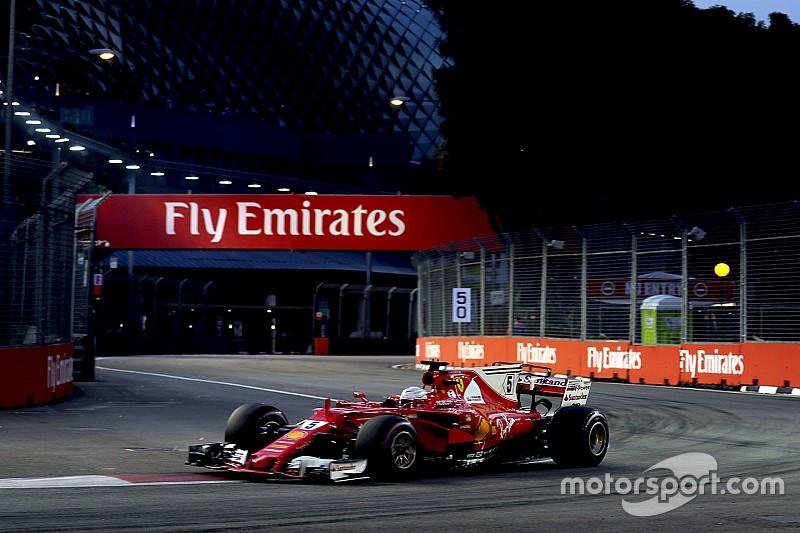 新加坡大奖赛排位赛:维特尔力挫红牛摘下杆位,汉密尔顿第五