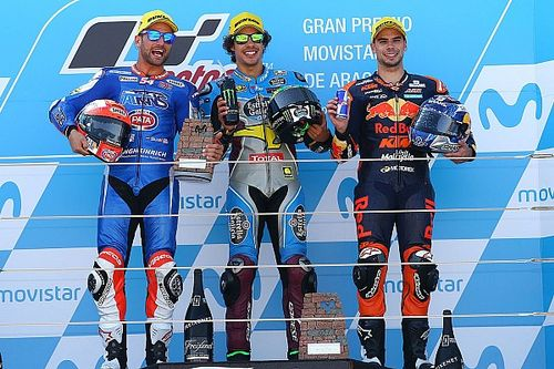 Aragon Moto2: Morbidelli wins with audacious last-lap pass