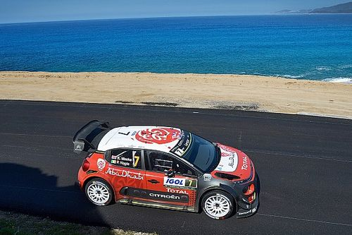 Corsica WRC: Meeke maintains narrow gap over Ogier