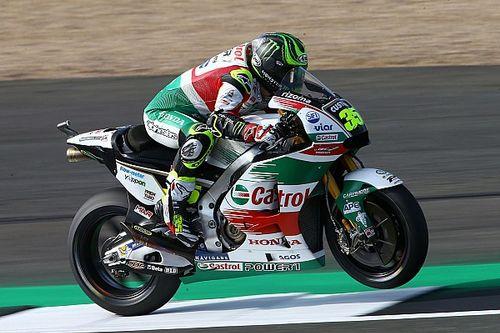 Crutchlow voor Rossi in tweede training Britse GP, dubbele crash Marquez