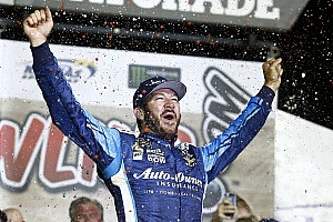 NASCAR Cup Race report Truex victorious after wild Kansas Cup race
