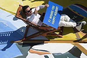 Alonso anuncia férias da F1 de maneira curiosa