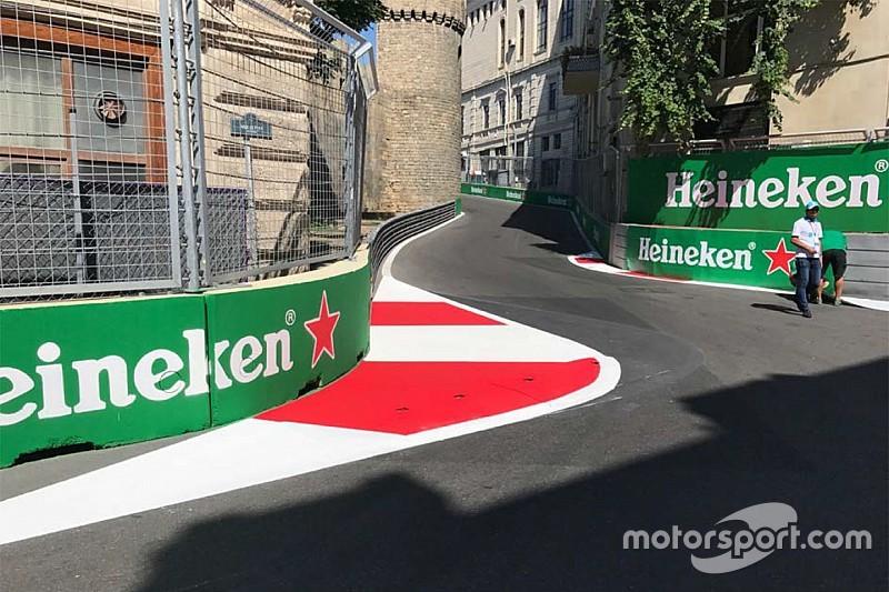 Nach Unfällen: Formel 1 verändert Randstein in Baku