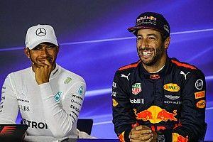 Hamilton: sería un privilegio ser compañero de Ricciardo