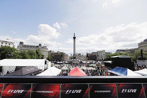 Vídeo: sigue en directo la exhibición de los coches de F1 en Londres