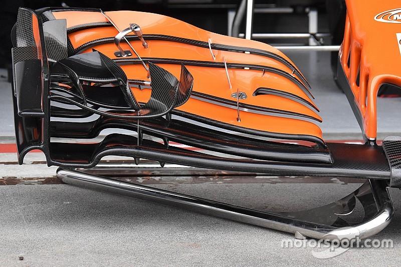 Technikai elemzés: Új első szárny Alonso McLarenjén