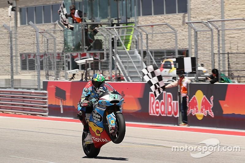 Moto2 Amerika: Morbidelli cetak hat-trick